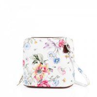 Small Square Floral Leather Shoulder Bag