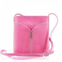 Small Cross Body Leather Bag Handbag Light Pink