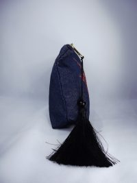 Blue makeup bag red star