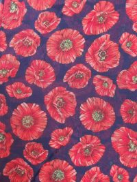 Scarf blue poppies