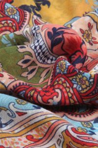Colourful floral scarf