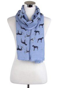 Denim blue great dane scarf