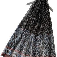 Black Moroccan Style Scarf