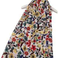 Summer garden floral pattern scarf