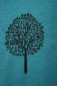 Aqua and Grey Tree of Life Scarf