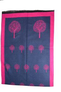 Navy and Fuschia tree of life scarf
